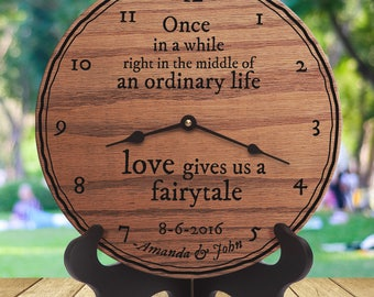 Once In a While Right In The Middle Of An Ordinary Life Love Gives Us a Fairytale - Custom Poem For Personalized Wedding Gift -Love Gives Us