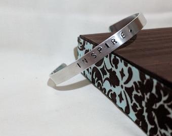 INSPIRE. Stamped Bracelet