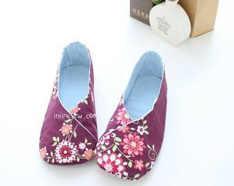 Women Kimono-Style Shoes PDF Sewing Pattern (#158)