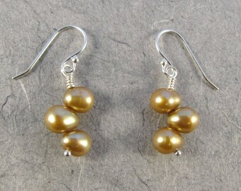 Champagne Pearl Earrings