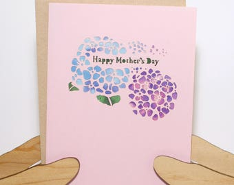 Mother's Day Hydrangea Card
