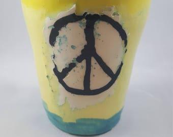 Pottery Cup, Pottery, Handmade Cup, Handmade Pottery, Pottery Tumbler, Ceramic Tumbler, Pottery Home Accent, Pottery Drinkware, Hippie Gift