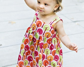INSTANT DOWNLOAD- Goldie Dress (sizes 3/6 months to 6) PDF Sewing Pattern and Tutorial