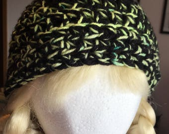 Black Beanie With Sprouts