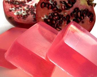 Midnight Pomegranate Soap, Handmade Glycerin Soap