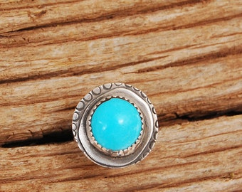 Turqoise ring for her/ gift for her/ lady gift/ ring for girlfried/ wife/ satellite ring  size 8.5