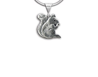 Sterling Silver Squirrel Pendant