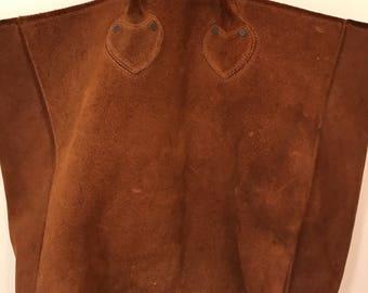 Vintage suede 1980s xl large cognac