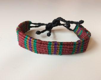 Funky Handmade Multicoloured Macrame Bracelet