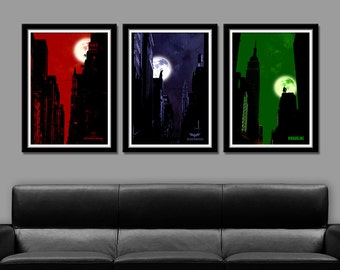 Super Hero Minimalist Movie Poster Set 2 - Home Decor