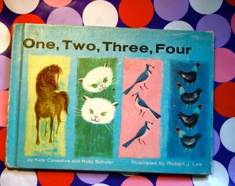 Vintage Children's Book, One, Two, Three, Four