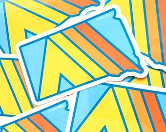Lager SoDak Aufkleber - Camping South Dakota Zelt Sticker - Retro Camping South Dakota Aufkleber - SoDak Camping Erinnerungsgeschenk von Ach meine Güte! Gestaltung