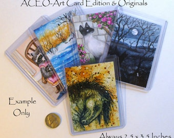 Prints ACEO's - Art Card Editions & Originals  Purchase any image(s) in my store as an ACEO print -by BiHrLe