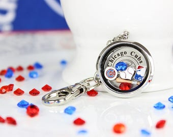 Chicago Cubs Floating Memory  Locket Keychain Cubs Fan, Cubs Gear,