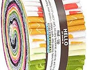 Color Dash - Heather Jones - Robert Kaufman - 40 Pieces - Jelly Roll - RU-584-40