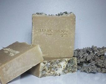 3 x CARIA Goat's Milk Olive Oil Soap Bar Lavender Pine Raw Honey All Natural