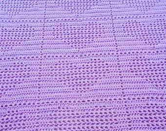 Lavender Heart Baby Blanket
