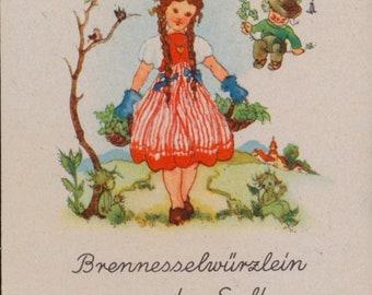 Vintage Single Card: Brennessel (Nettles). Herb.