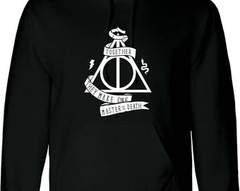 kids / adults hoody HARRY POTTER inspired , deathly hallows hoodie , worldwide shipping