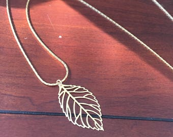 Golden leaf on chain