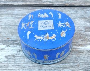 Vintage Antique Soir de Paris Bourgeois air spun face powder box PARIS vanity/make up