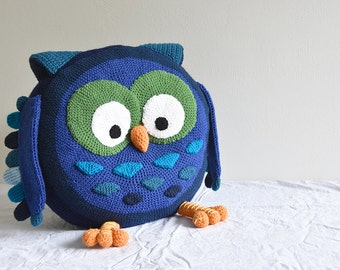 Giant Owl Pillow Crochet Pattern, Shaped Pillow Crochet Pattern, Extra Large Owl Amigurumi,