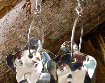 ARNOLD - Silver 925 handcrafted Puppy Hoop Earrings