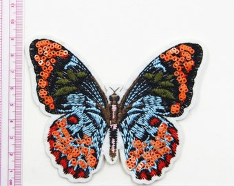 Butterfly Patch,Sequin Patch, Butterfly Sequin Embroidery Patch,Cute Butterfly Patch,Fashion Sequin Embroidered Applique ,Iron on Patch