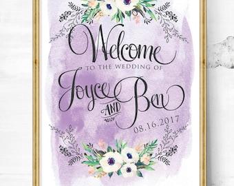 wedding sign - wedding entrance sign - wedding reception - wedding welcome sign - vintage wedding sign - gold wedding sign - rustic sign