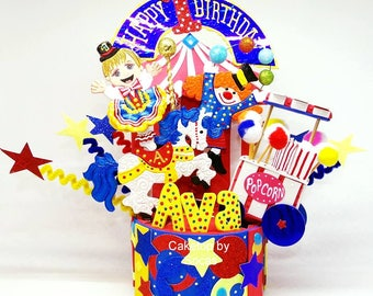 Carnival centerpieces, Circus cake topper, carnival party decorations, Circus horse,  circus party decorations, Carousel horse party