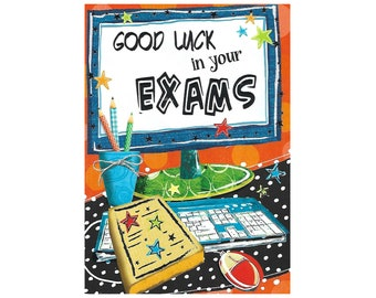 Good Luck in your exams card
