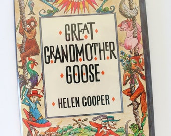 Great Grandmother Goose by Helen Cooper, First American Edition, Greenwillow Books, 1978, Illustrated by Krystyna Turska, Medieval Rhymes
