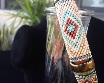 beaded licorice leather bracelet