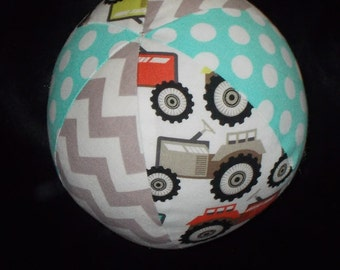 Tractor Fabric Boutique Ball Rattle Toy