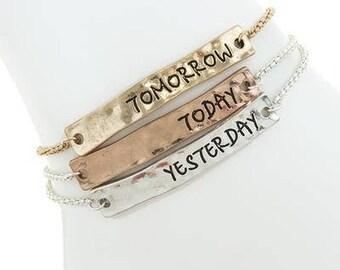 Yesterday Today Tomorrow Bracelet Set