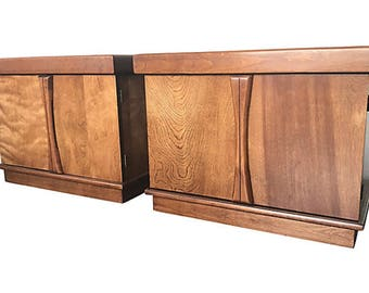 Mid-Century Modern Cabinet Nightstands or End/Side Tables