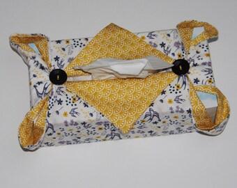 Yellow kleenex box cover