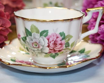 SALISBURY Bone China Teacup and Saucer Set. 2 sets Available