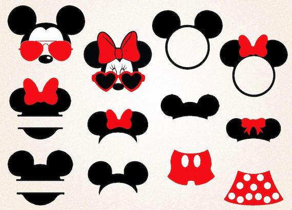 Mickey And Minnie Svg Png 300 Ppi Mickey Monogram Minnie