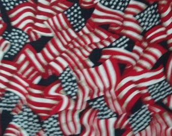 USA Patriotic Flag Wavy Stars Stripes Cotton Fabric Fat Quarter Or Custom Listing