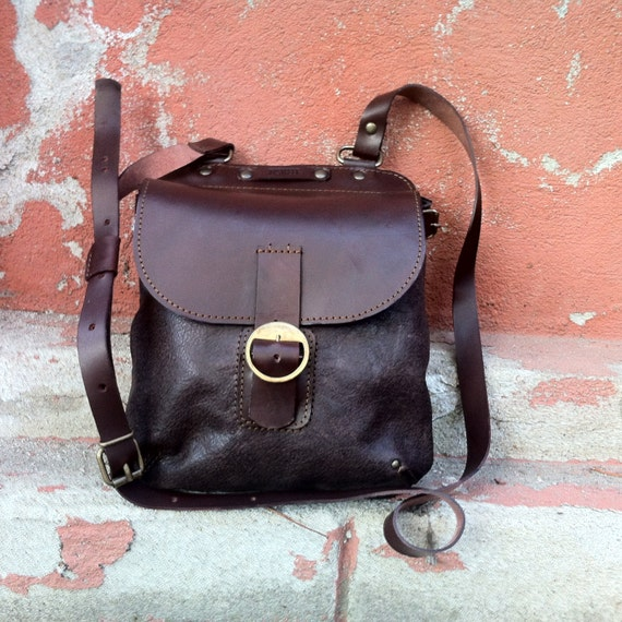 iPad Peter Pan Leather Satchel, Leather Pouch, Leather and Canvas Pouch, Leather purse,Canvas Bag, Gift for Her, Handmade Bag