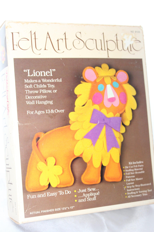 Lionel Lion Felt Art Sculpture Kit DebbieJane Crafts