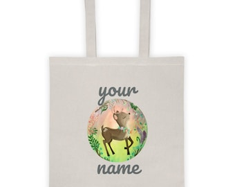 Caribou Personalized Tote bag