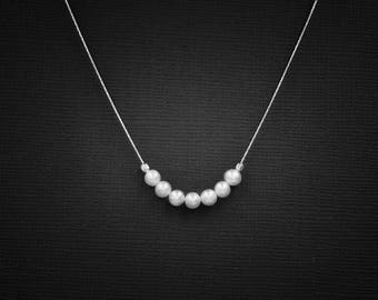 Pearl Necklace Pearl Choker June Birthstone Dainty Necklace Delicate Choker Layering Necklace Layering Choker Minimalist Necklace