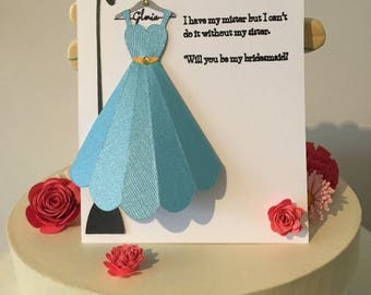 6x Custom Bridesmaid Cards