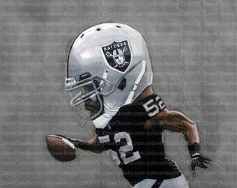 Khalil Mack, Oakland Raiders Art Photo Print