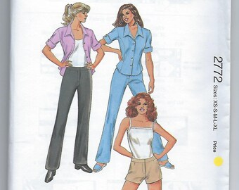 Kwik Sew 2772 - MISSES Pants, Shorts and Shirt / Sizes XS, S, M, L XL