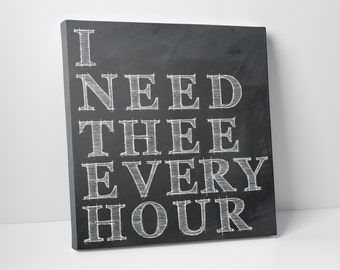 I Need Thee Every Hour Wall Art