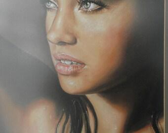 Portrait painting of beautiful girl . Custom Portrait Custom Painting Custom portrait with Oil ore Pastel