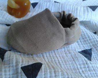 Hemp/Organic Cotton + Organic Cotton Crib Shoes